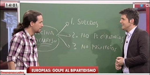 Iglesias explicando la Directiva Villarejo